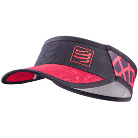 Compressport Spiderweb Ultralight Visiera, black-red